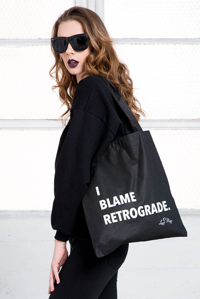 I Blame Retrograde Tote Bag from love by luna