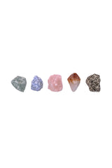 Joy & Happiness Crystal Set from love by luna - rose quartz, citrine point, aventurine, blue calcite, pyrite