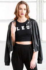 Leo cotton Crop Top shirt from love by luna