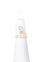 Leo gold wire wrapped Midi Ring from love by luna