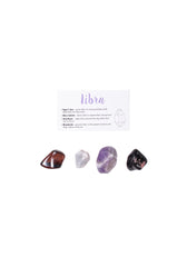 libra crystal set red tigers eye blue calcite amethyst rhodonite