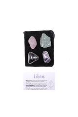 Libra 2 Crystal Set from love by luna - rose quartz, aventurine, chevron amethyst, hematite