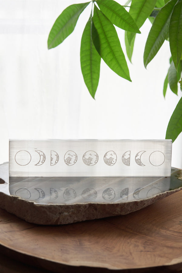 Selenite Moon Phase Charging & Cleansing Bar