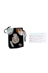 manifest success crystal set citrine point pyrite aventurine green calcite garnet