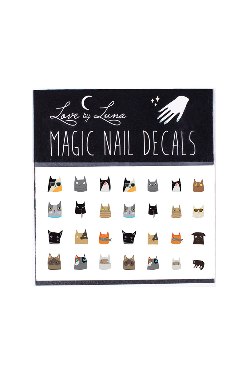 cats nail decals nine lives