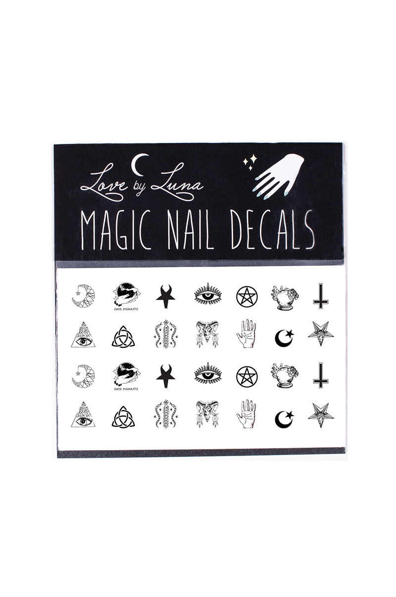 occult symbols nail decals pentagram satan crescent moon