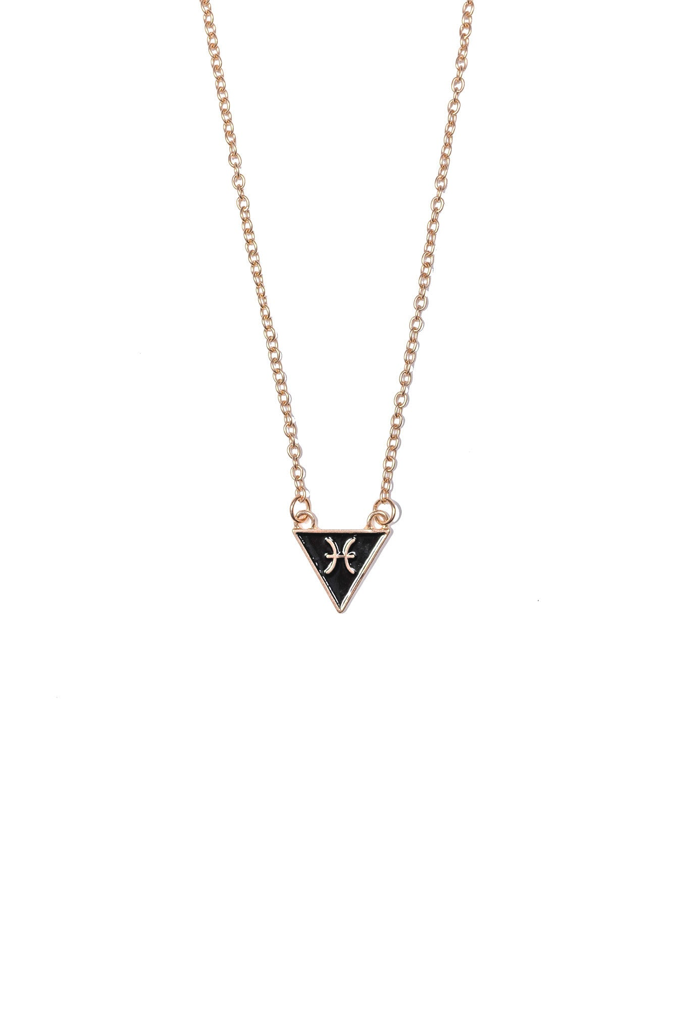 Pisces Triangle Necklace