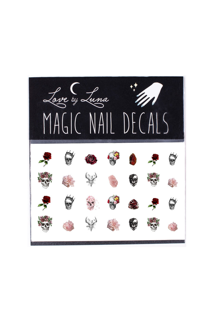 Skulls & Roses Nail Decal Set