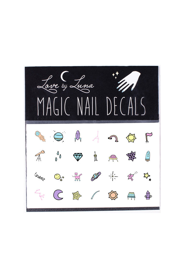 doodle nail decals moon diamond small line drawings