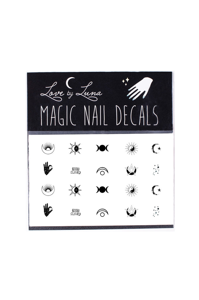 sun and moon nail decal set