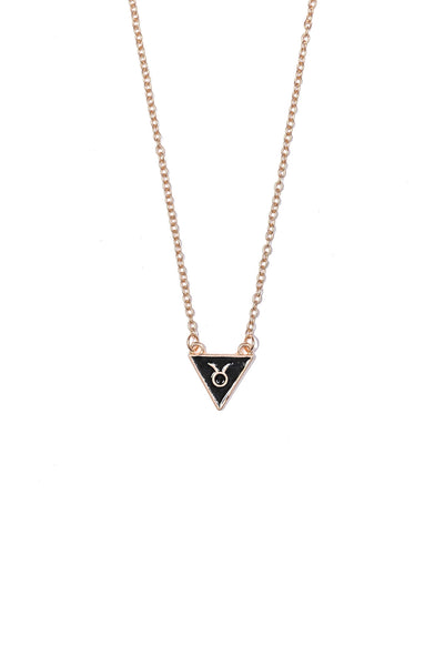 Taurus Triangle Necklace