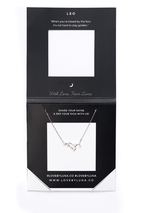 Leo Constellation Necklace - Gold & Silver (14 Karat Gold / 24 Karat White Gold Dipped Options)