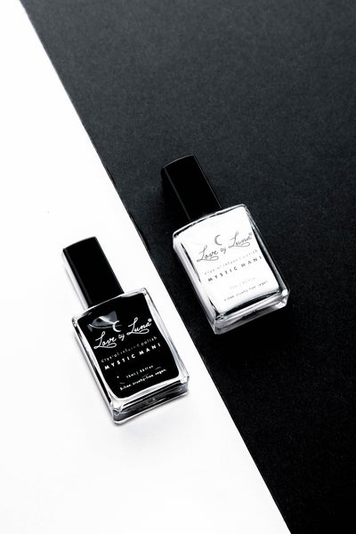 new moon full moon nail polish duo white black