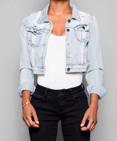 Baker Cropped Denim Jacket