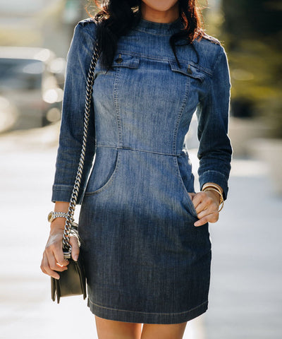 Beverly Denim Sheath Dress