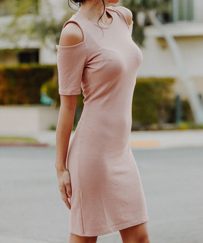Persimmon Cold Shoulder Dress