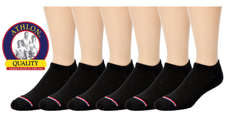ATHLON® - Men's Black Cotton No Show Socks