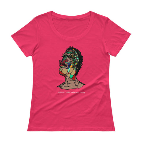 Tiamat The Dragon Lady - Ladies' Scoopneck T-Shirt