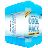 Healthy Packers Blue Gel Slim Long-Lasting Ice Packs for Lunch Box or Cooler Bag (4, 6, 8, or 10 pack)