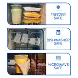 Healthy Packers 24 Pack of Extra-Thick Deli Cups, Food Storage Containers. 100% Leakproof. Freezer, Microwave and Dishwasher Safe (8, 16 or 32 oz))