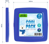 Healthy Packers Multi-Color Slim Long-Lasting Ice Packs for Lunch Box or Cooler Bag (5 or 10 pack)
