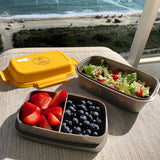 Premium Bento Box - Lunch Box is Leakproof, Multi Removable Compartments. Dishwasher and Microwave Safe Food Container with Built-in Removable Ice Pack + Durable Neoprene Lunch Bag
