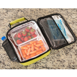 Insulated Lunch Box for Adults and Kids w/ 2 Slim Long Lasting Ice Packs - Professional Work Lunch Bag for Men and Women - Heavy Duty School Lunchbox for Boys and Girls (7 colors)