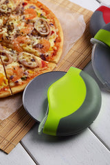 Pizza Cutter Wheel with Protective Blade Guard, Easy To Clean Slicer, Extra Sharp Grade 430 Stainless Steel Blade with Ergonomic Handle