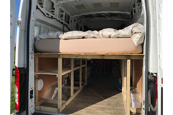 Ford Transit Van Conversion - Building the Raised Bed