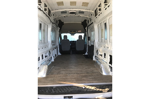 Ford Transit Van Conversion - Floor Installation