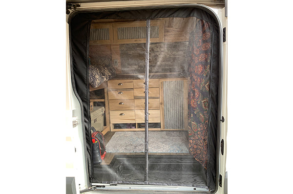 Ford Transit Van Conversion - Magnetic Screen Door (Bug Net)