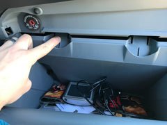 Ford Transit van conversion cabin air filter install release glove compartment