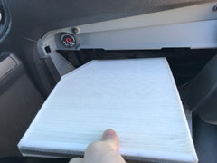 Ford Transit van conversion baldwin cabin air filter install