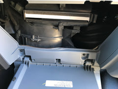 Ford Transit van conversion baldwin cabin air filter intall final