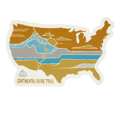 "Continental Divide Trail ""United Landscapes"" Sticker"