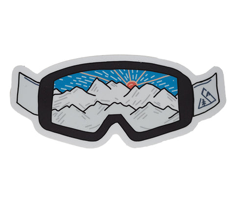 Seek Dry Goods Fresh Tracks Ski Sticker