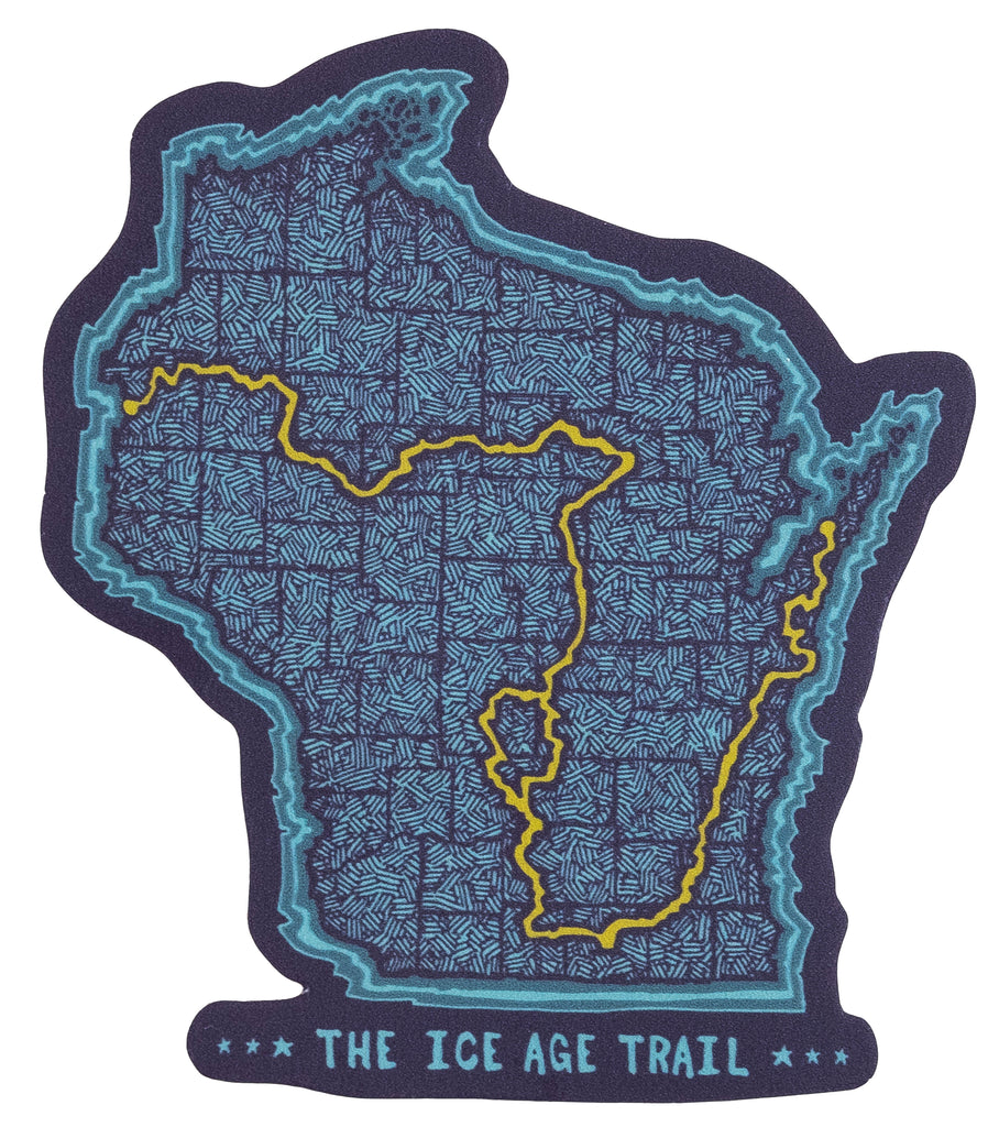 "Ice Age Trail ""Trail Map"" Sticker"
