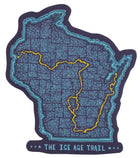 Ice Age Trail - Trail Map Jumbo Sticker