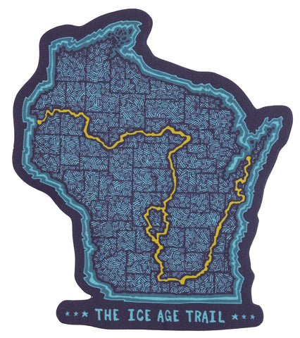 Ice Age Trail - Trail Map - Sticker