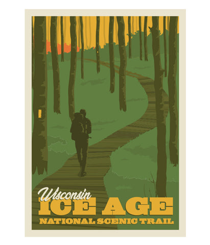 "Ice Age Trail ""Boardwalk"" poster print"