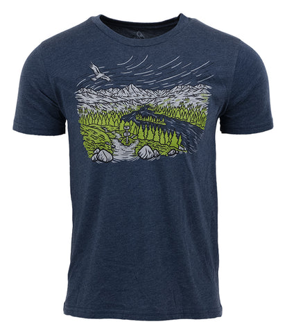 Mens American Trails T-shirt blue