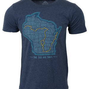 Men's/Unisex Ice Age Trail - Trail Map T-shirt
