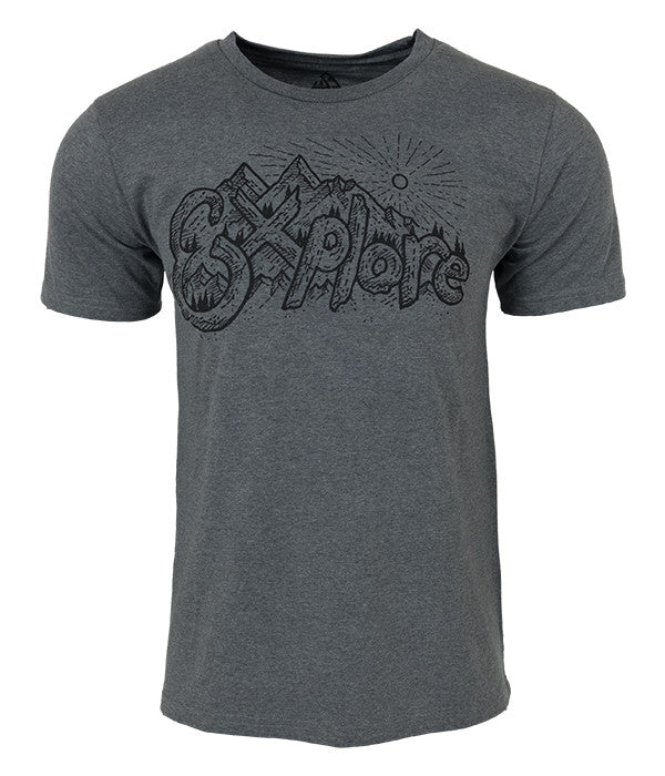 "Mens Seek Dry Goods outdoor artist series ""explore"" t-shirt grey"