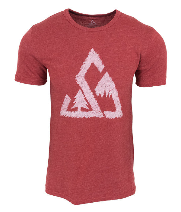 "Mens Seek Dry Goods outdoor artist series ""chalked up"" tri blend t-shirt brown"