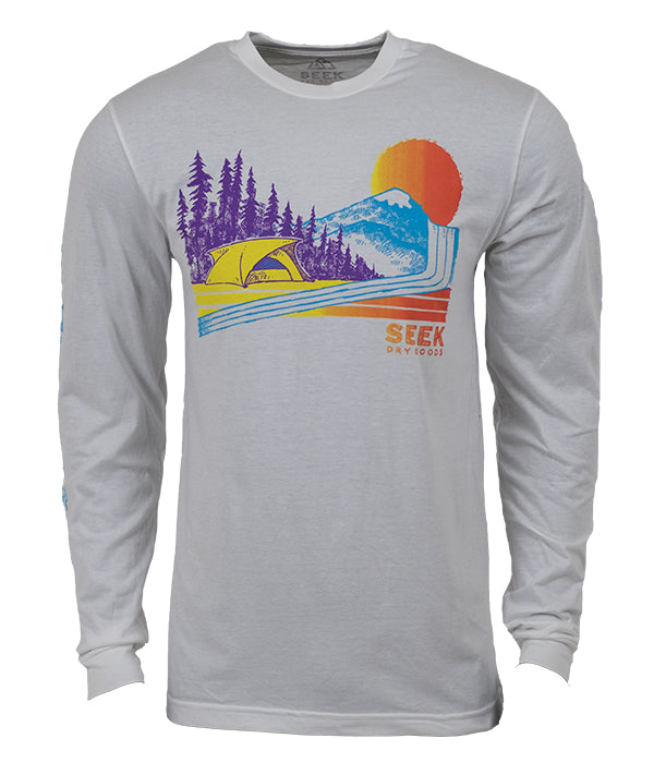 "Seek Dry Goods ""Throwback Camper"" Long Sleeve T-shirt"