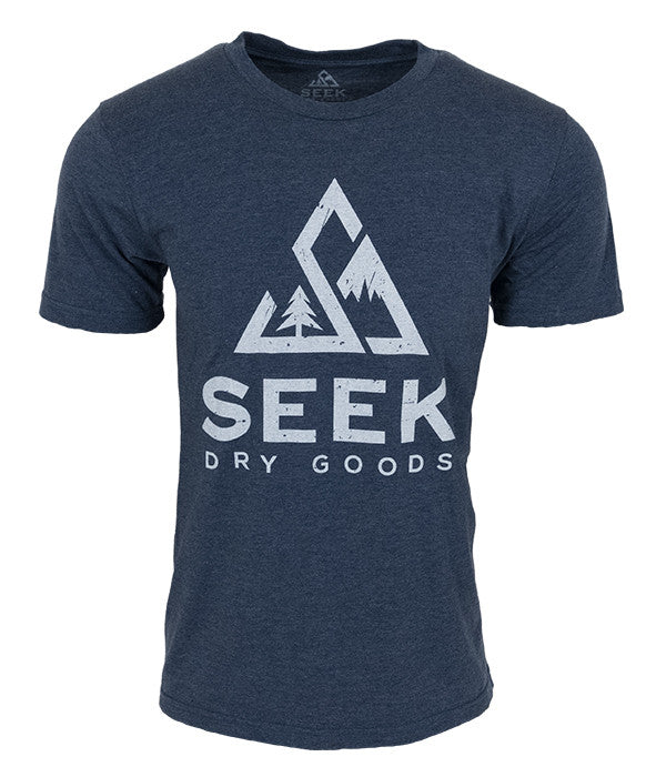 Mens Seek Dry Goods core logo t-shirt navy