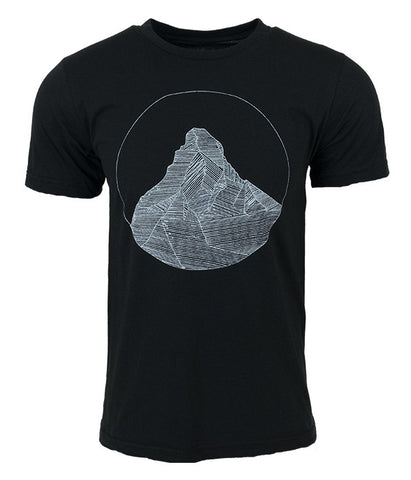 "Mens Seek Dry Goods outdoor artist series ""matterhorn"" t-shirt black"