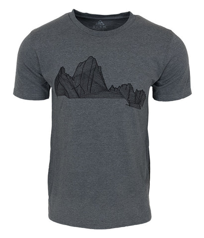 "Mens Seek Dry Goods outdoor artist series ""the fitz"" t-shirt grey"