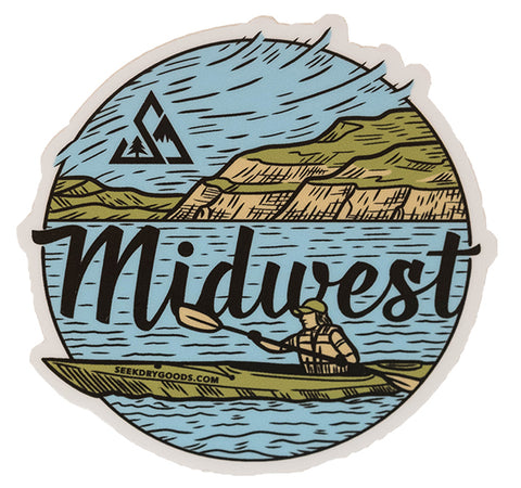 "Seek Dry Goods ""Midwest"" Sticker"