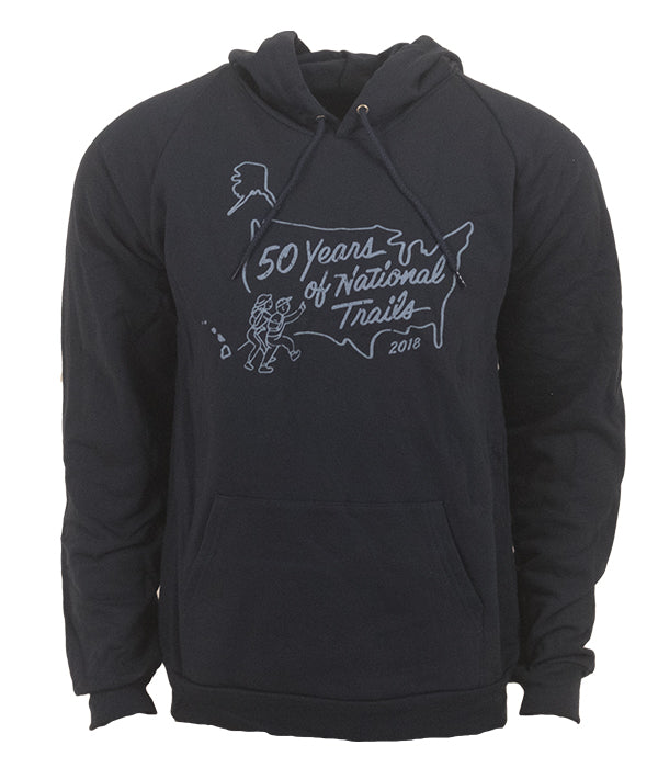 "PNTS outdoor artist series organic ""50th Anniversary"" hoodie sweatshirt blue"